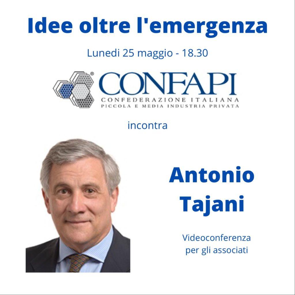 IDEE OLTRE L'EMERGENZA: CONFAPI INCONTRA ANTONIO TAJANI