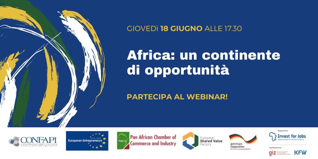 WEBINAR CONFAPI – AFRICA: UN CONTINENTE DI OPPORTUNITÀ – 18 GIUGNO ORE 17.30