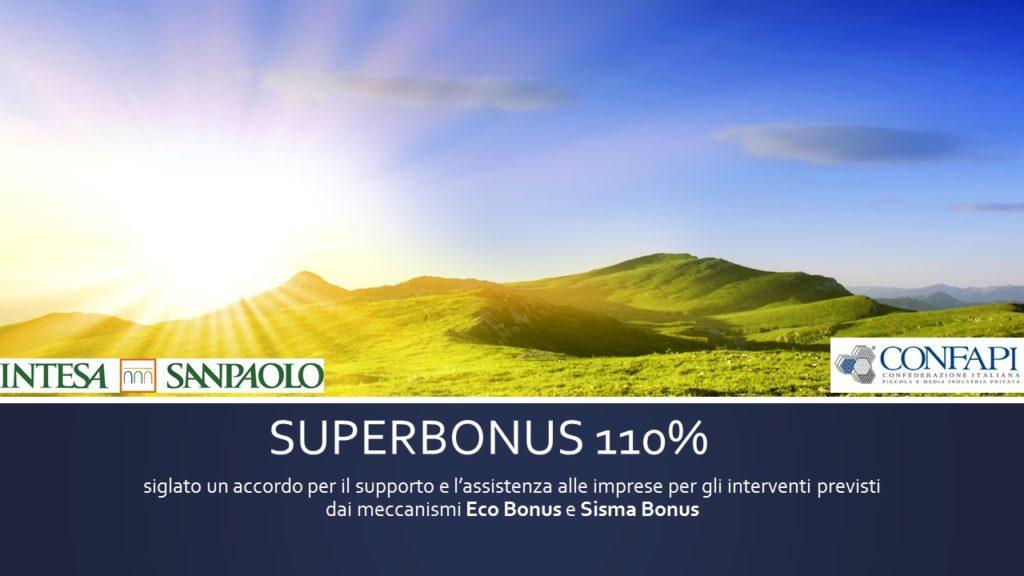 SUPERBONUS 110% – INTESA SANPAOLO E CONFAPI FIRMANO L'ACCORDO PER IL SOSTEGNO ALLE PICCOLE IMPRESE